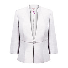 Buy Jacques Vert Shimmer Shantung Jacket, White Online at johnlewis.com