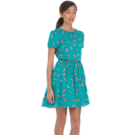 Buy Oasis Butterfly Skater Dress, Multi Online at johnlewis.com