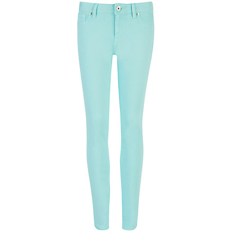 Buy Ted Baker Hazzel Resin Finish Skinny Jeans, Mint Online at johnlewis.com
