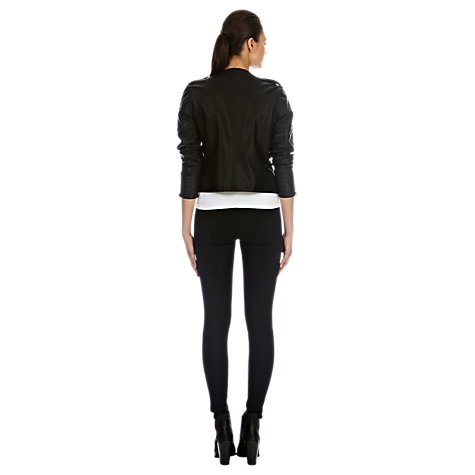 Buy Warehouse Superfit Skinny Jeans, Black Online at johnlewis.com