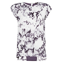 Buy Mango Aquarelle Print T-Shirt, Grey Online at johnlewis.com