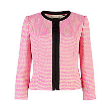 Buy Ted Baker Adreena Cropped Jacket, Neon Pink Online at johnlewis.com
