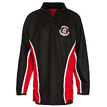 Buy Davenant Foundation School Boys' Reversible Rugby Jersey, Black/Red Online at johnlewis.com