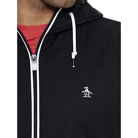 Buy Original Penguin Hooded Ratner Jacket, Black Online at johnlewis.com