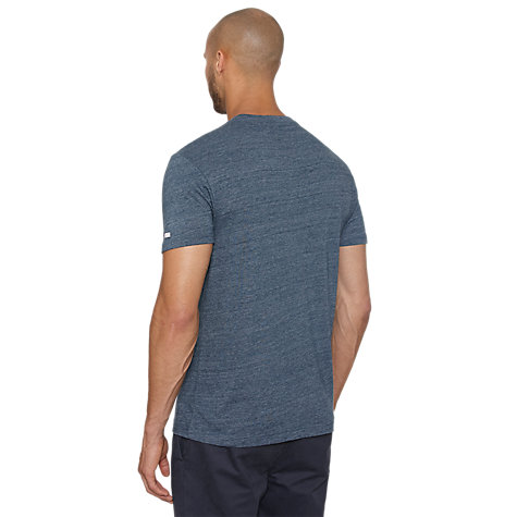 Buy Original Penguin Vinyl Swap T-Shirt, Teal Online at johnlewis.com