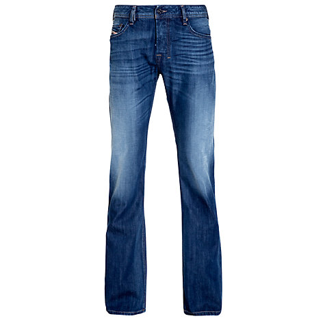 Buy Diesel Zatiny Bootcut Jeans, Blue 8XR Online at johnlewis.com