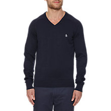 Buy Original Penguin V-Neck Cotton Jumper Online at johnlewis.com