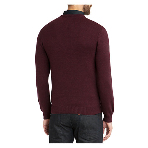 Buy Ted Baker Piptop Cotton-Wool Jumper, Dark Red Online at johnlewis.com