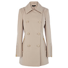 Buy Warehouse Double Breasted Reefer Coat, Beige Online at johnlewis.com
