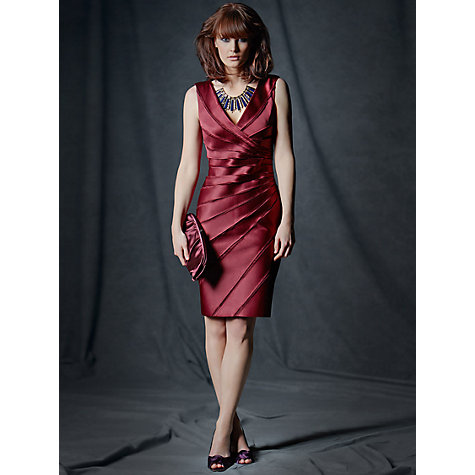 Buy Phase Eight Sunray Pleat Dress, Wine Online at johnlewis.com