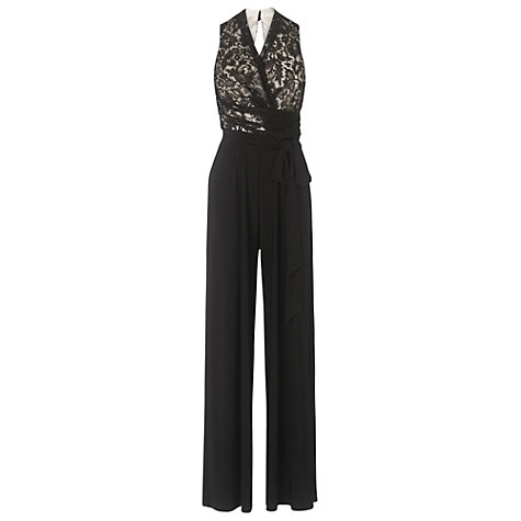 Buy Phase Eight Lace Bodice Jumpsuit, Black/Nude Online at johnlewis.com