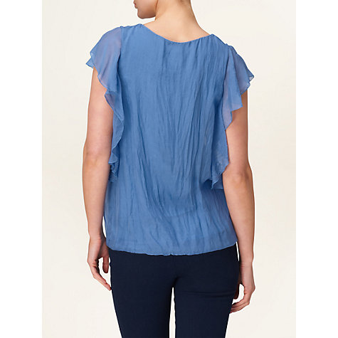 Buy Phase Eight Samara Silk Frill Blouse, China Blouse Online at johnlewis.com