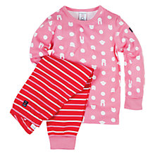 Buy Polarn O.Pyret Bunny/Stripe Pyjama Set Online at johnlewis.com