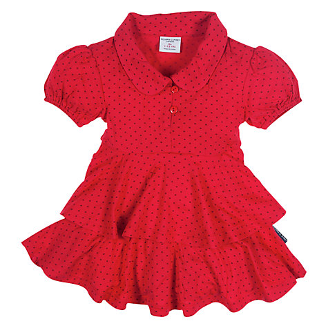 Buy Polarn O. Pyret Frilly Blouse, Red Online at johnlewis.com