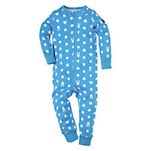 Buy Polarn O. Pyret All in One Pyjamas, Topaz Online at johnlewis.com