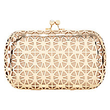 Buy Coast Calli Cut-Out Bag, Gold Online at johnlewis.com