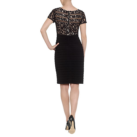Buy Adrianna Papell Lace Top Jersey Dress, Black Online at johnlewis.com