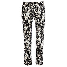 Buy Warehouse Pattern Oriental Trousers, Black Online at johnlewis.com