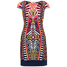 Buy Adrianna Papell Printed Shift Dress, Coral Online at johnlewis.com
