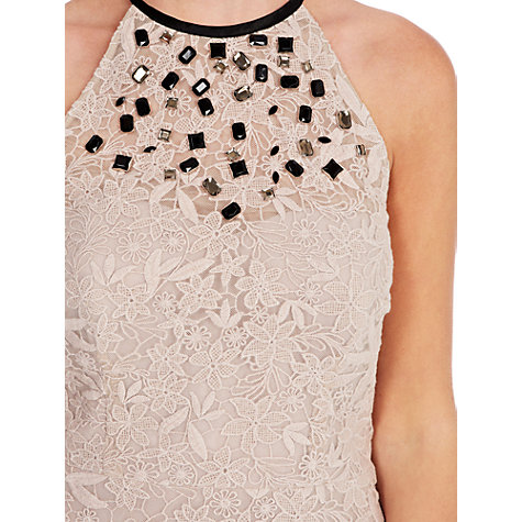 Buy Coast Valence Lace Top, Oyster Online at johnlewis.com