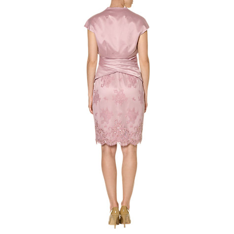 Buy Adrianna Papell Lace and Satin Dress and Jacket, Dusty Pink Online at johnlewis.com