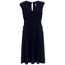 Buy Adrianna Papell Illusion Drape Dress, Eclipse Online at johnlewis.com