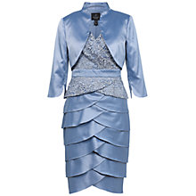 Buy Adrianna Papell Lace and Charmuese Dress and Jacket, Dusty Blue Online at johnlewis.com