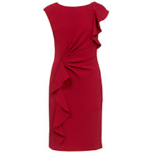 Buy Adrianna Papell Ruffle Shift Dress, Garnet Online at johnlewis.com