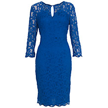 Buy Adrianna Papell Scallop Dress, Lapis Online at johnlewis.com
