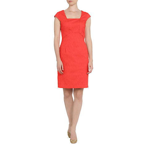 Buy Adrianna Papell Seam Detail Shift Dress, Coral Online at johnlewis.com