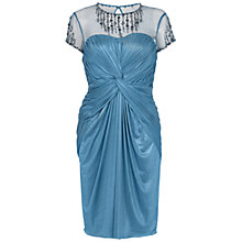 Buy Adrianna Papell Embroidered Twist Detail Dress, Ocean Online at johnlewis.com