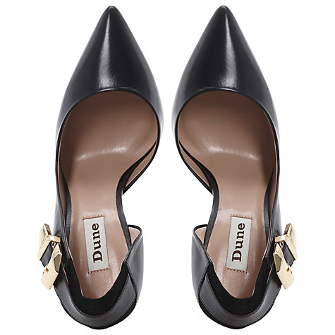 Buy Dune Cocktail Court Shoes, Black Online at johnlewis.com