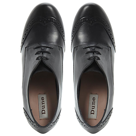 Buy Dune Abada Brogue Shoes, Black Online at johnlewis.com