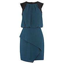Buy Warehouse Crepe Cut Out Dress, Teal Online at johnlewis.com