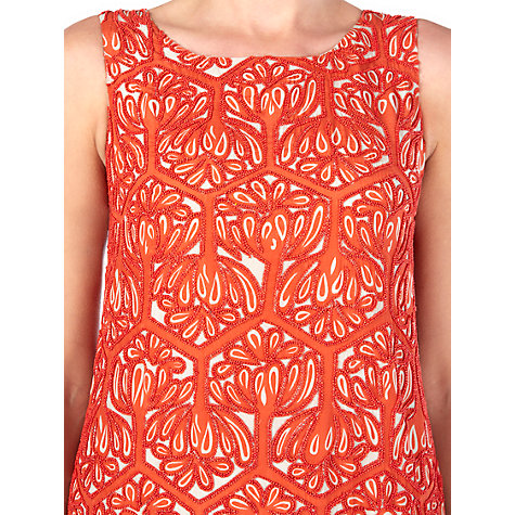 Buy Jigsaw Geo Bead Dress, Orange Online at johnlewis.com