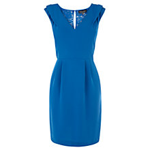 Buy Warehouse Extended Shoulder Dress, Bright Blue Online at johnlewis.com