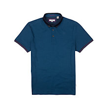 Buy Ted Baker Jefrton Contrast Collar Polo Shirt, Teal Online at johnlewis.com