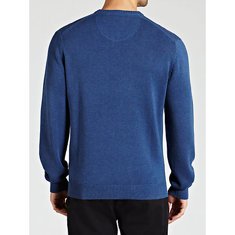 Buy Hackett London Crew Neck Jumper, Indigo Online at johnlewis.com