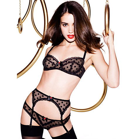 Buy L'Agent by Agent Provocateur Rosalyn Non-Padded Balcony Bra, Flock Spot Online at johnlewis.com