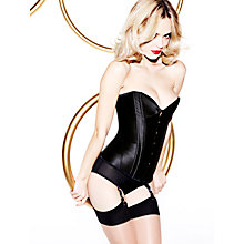 Buy L'Agent by Agent Provocateur Penelope Corset, Black Online at johnlewis.com