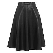 Buy Whistles Katia Circle Skater Skirt, Black Online at johnlewis.com