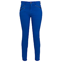 Buy French Connection Lilly Zip Jean, Blue Online at johnlewis.com