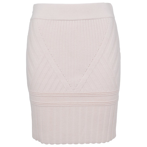 Buy French Connection Engineered Pencil Skirt, Dusty Cream Online at johnlewis.com