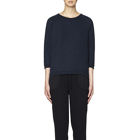 Buy Whistles Graphic Quilted Sweatshirt, Navy Online at johnlewis.com