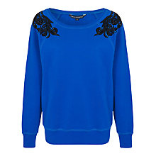 Buy French Connection Antoinette Sweatshirt, Electric Blue/Multi Online at johnlewis.com