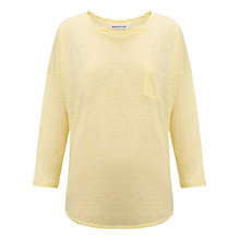 Buy Whistles Lacie Twist Neck Top, Yellow Online at johnlewis.com