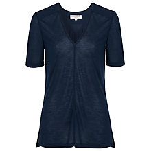 Buy French Connection Classic Polly T-Shirt, Utility Blue Online at johnlewis.com