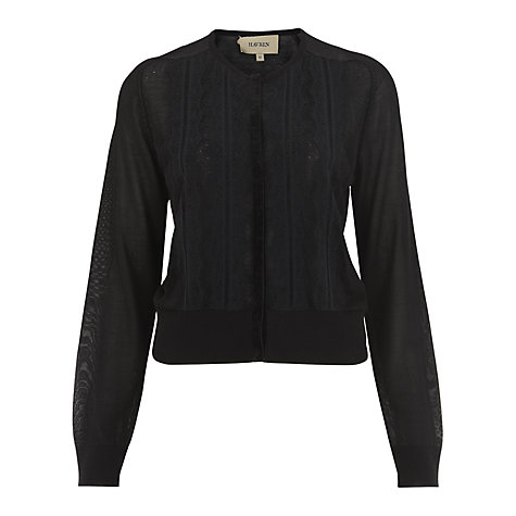 Buy Havren Lace Cardigan, Black Online at johnlewis.com