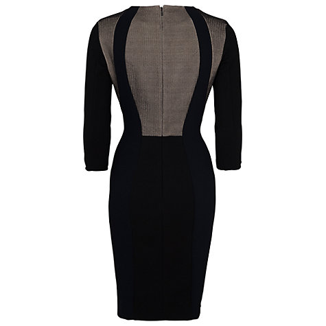 Buy French Connection Chevron Flock Dress, Black Mix Online at johnlewis.com