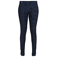 Buy French Connection Blousy Bloom Leggings, Blue/Black Online at johnlewis.com